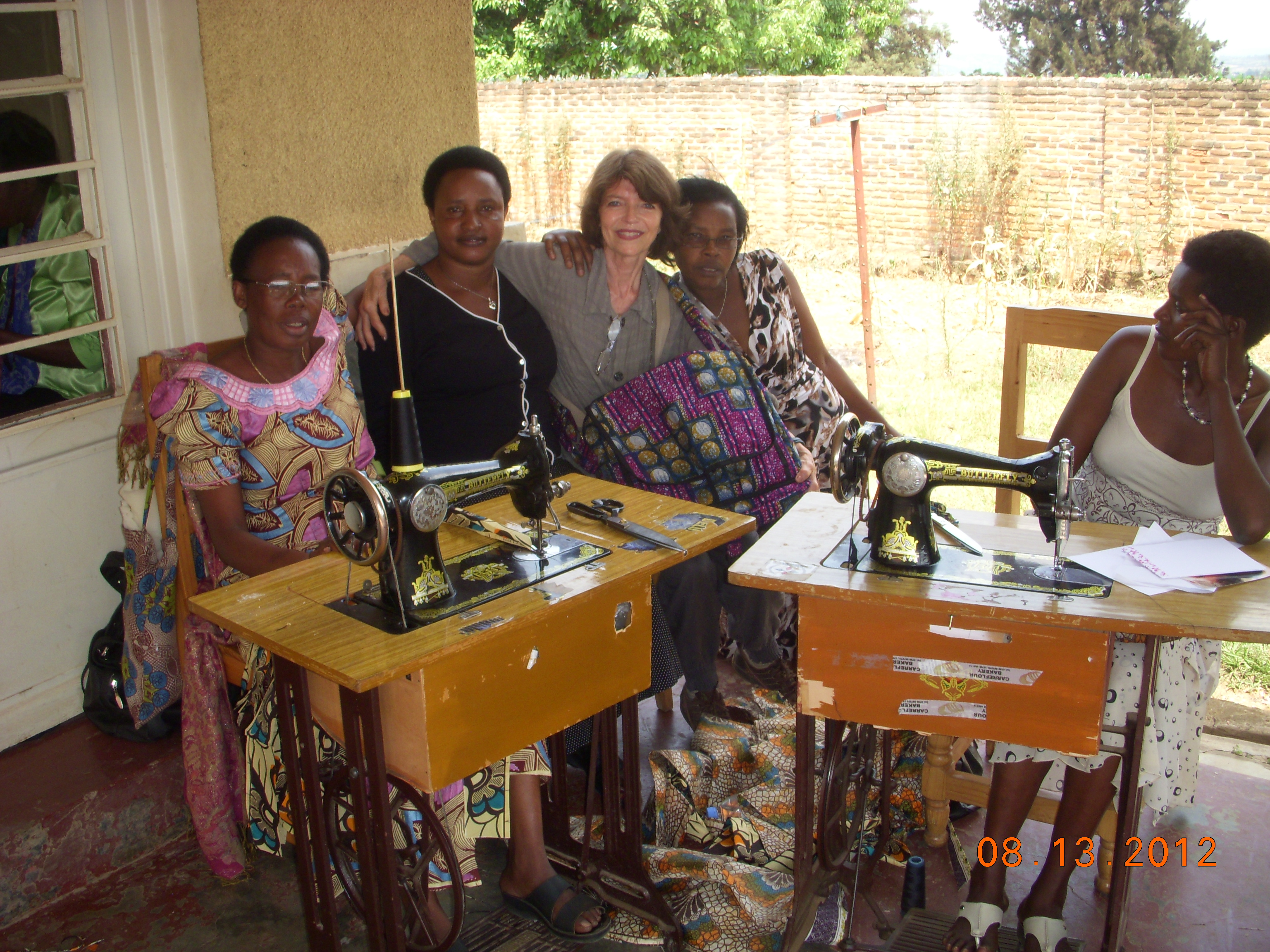 At women's sewing cooperative for survivors of the genocide, Kigali, Rwanda - August 2012