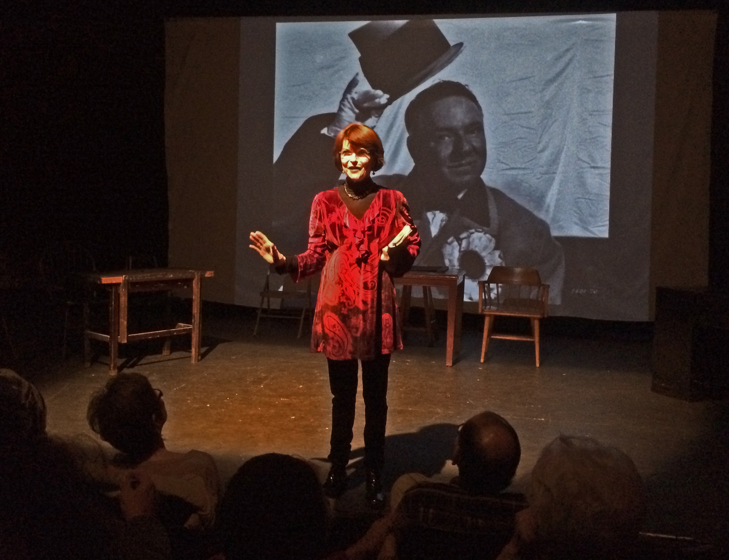 Dr. Harriet Fields at the Canary Trial Re-enactment